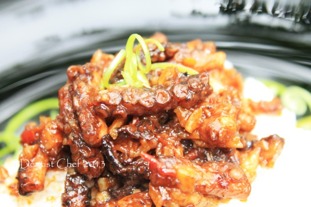 spicy octopus recipe chilli garlic stew octopus