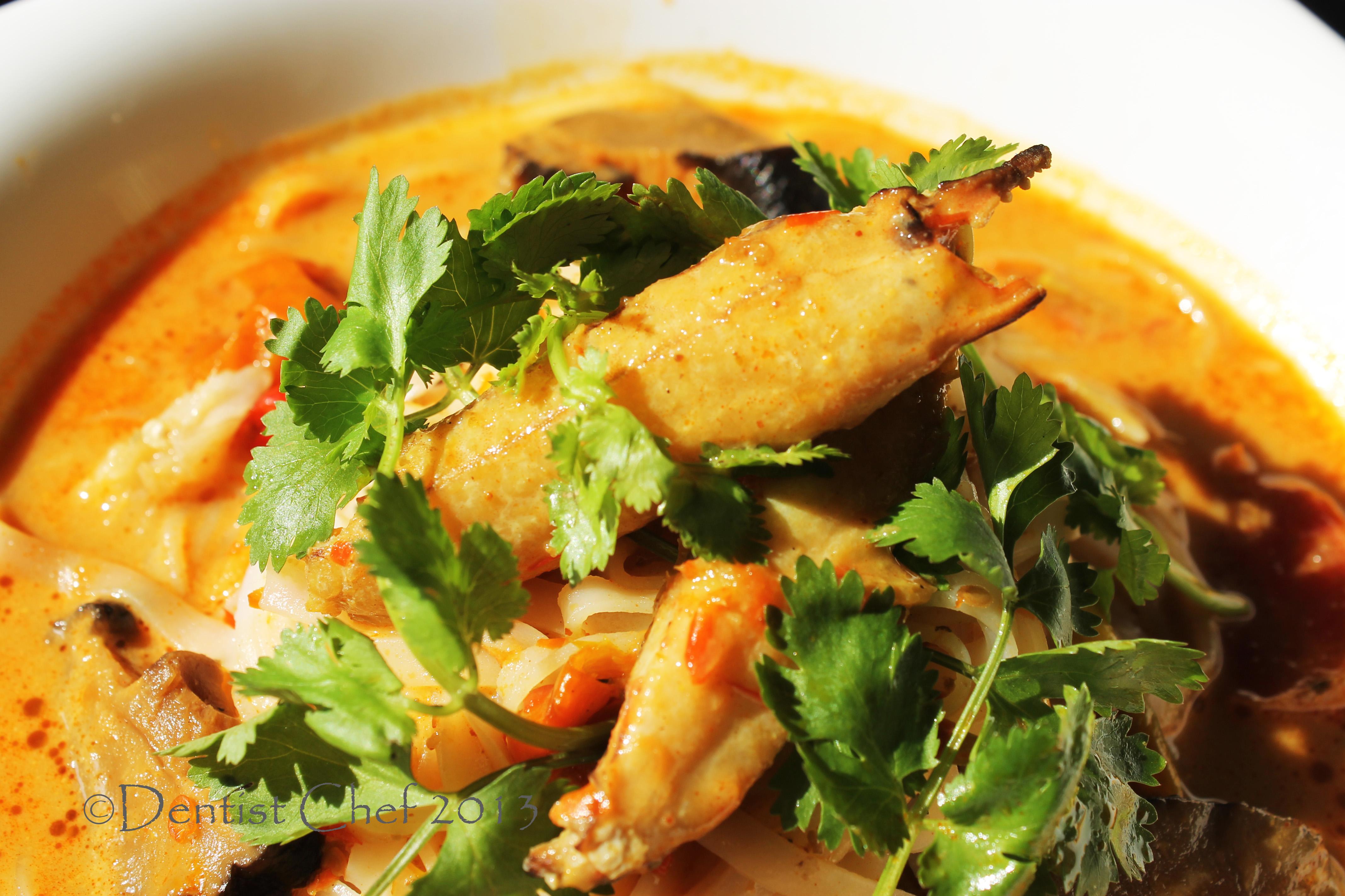 crab spicy curry noodle crab laksa ketam mie kepiting