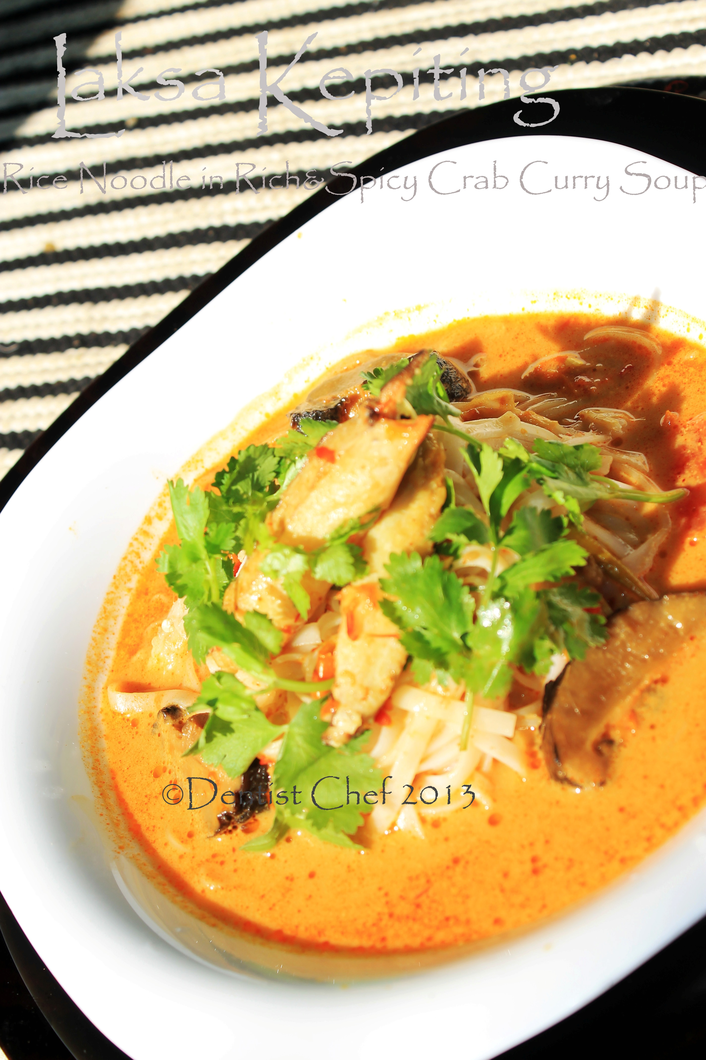 recipe crab laksa noodle soup crab coconut curry spicy malaysian ...