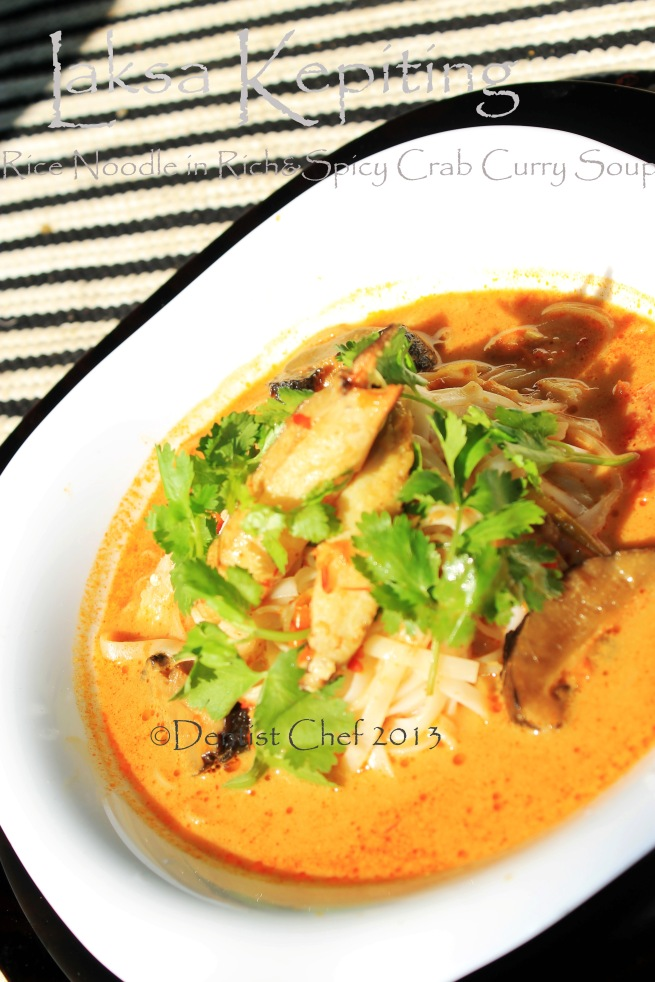 Crab Laksa Noodle Soup Coconut Curry Spicy Malaysian