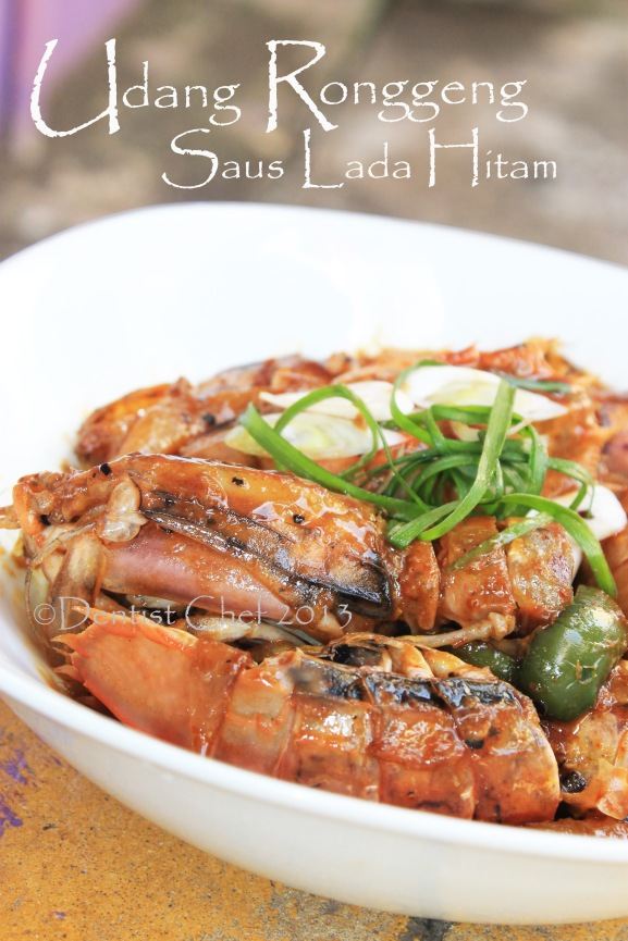 resep udang ronggeng saus lada hitam masak udang lipan