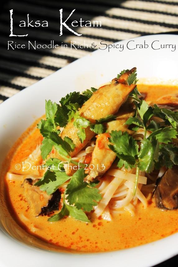 resepi laksa ketam crab curry rice noodle soup malaysian