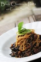 black chanterelle pasta mushrooms pasta creamy black trumphet mushrooms