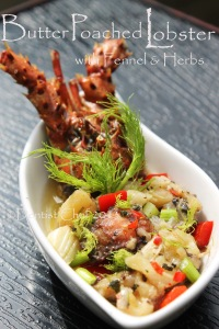 butter poached lobster recipe poach herbs fennel