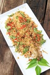 mantis prawn shrimp deep fried with butter garlic cereal salt and pepper