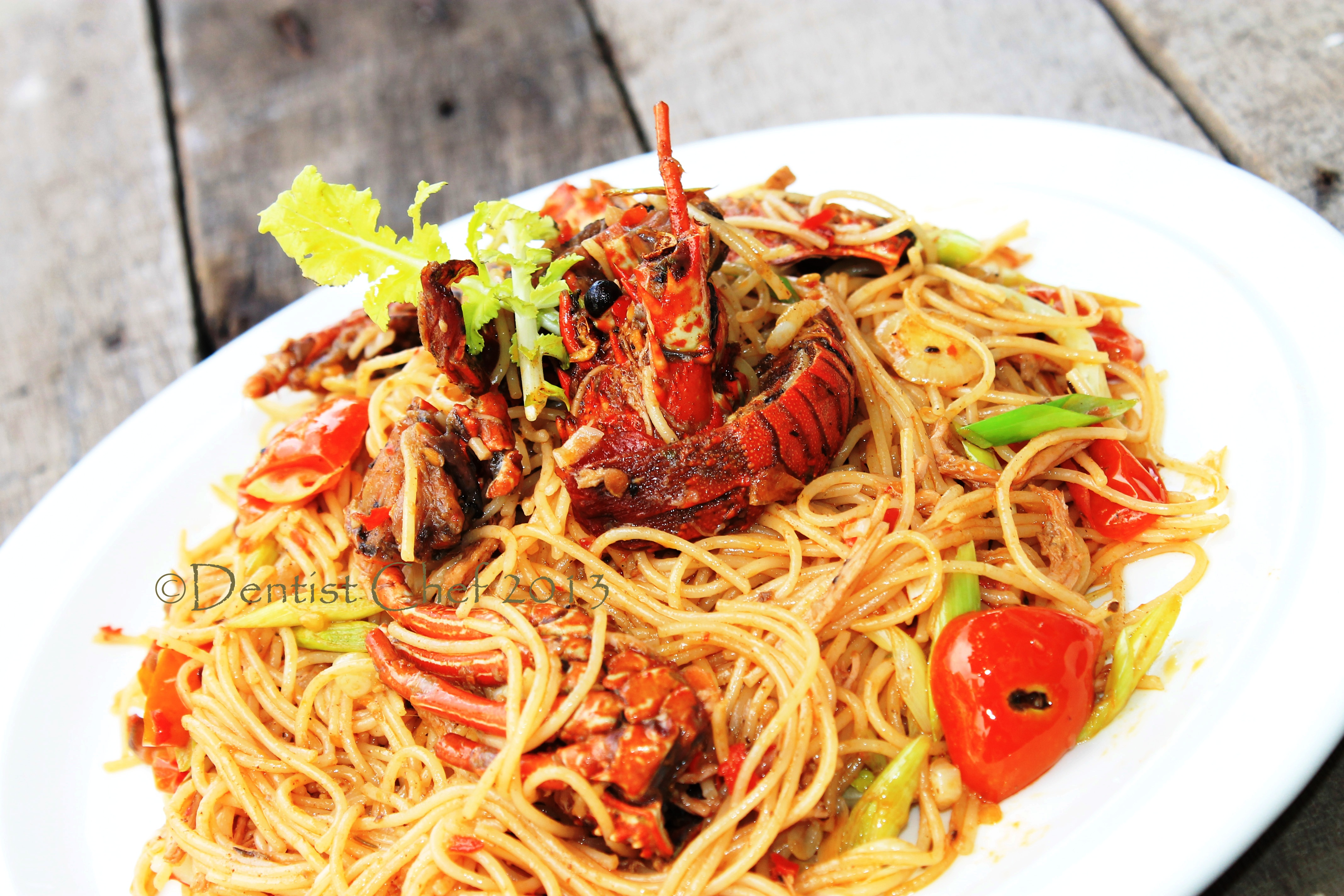 lobster spaghetti santorini lobster spaghetti santorini happy cooking ...