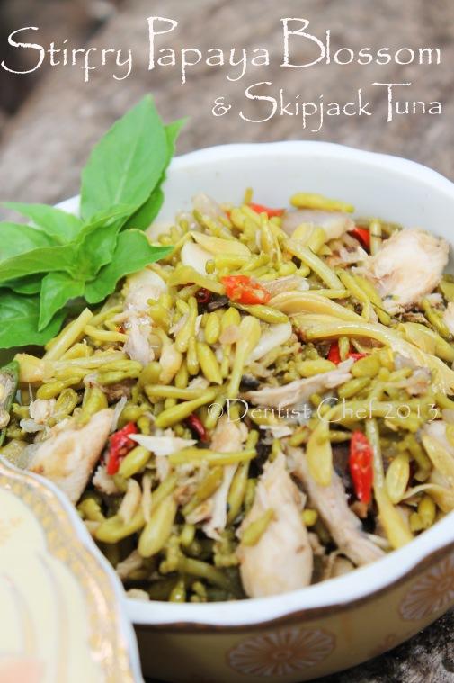 resep garo bunga pepaya tumis cakalang fufu menado pedas