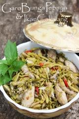 resep tumis bunga pepaya ikan cakalang fufu asap