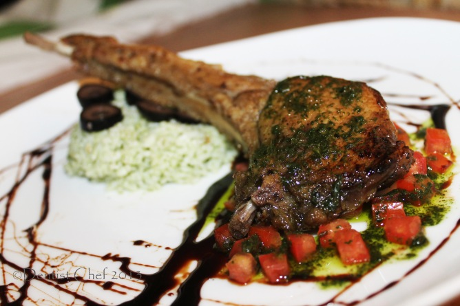 rib eye steak tomahawk steak Scotch fillet salsa verde green sauce