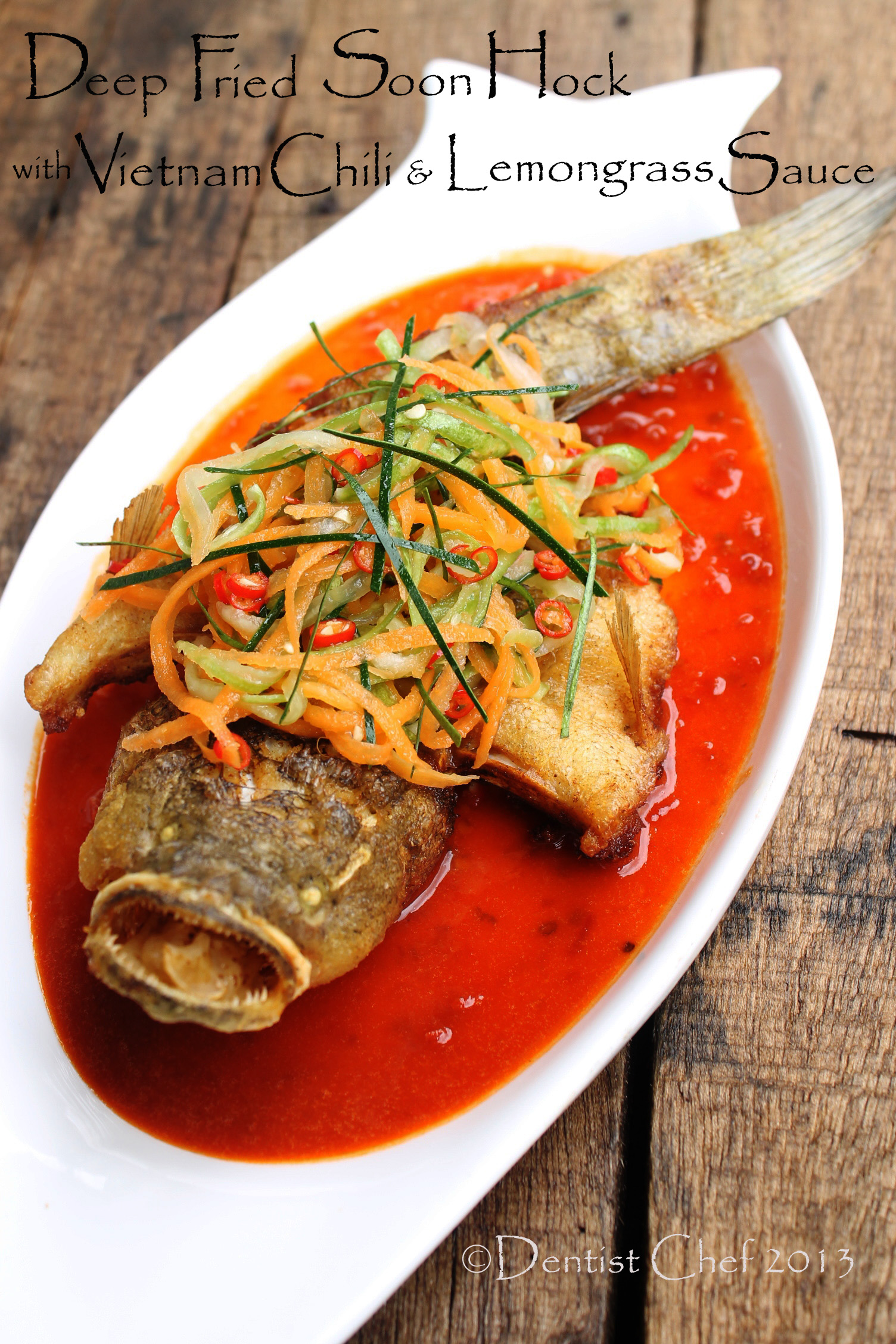 Deep fried marble goby soon hock with vietnamese chilli for Vietnamese fish sauce recipe