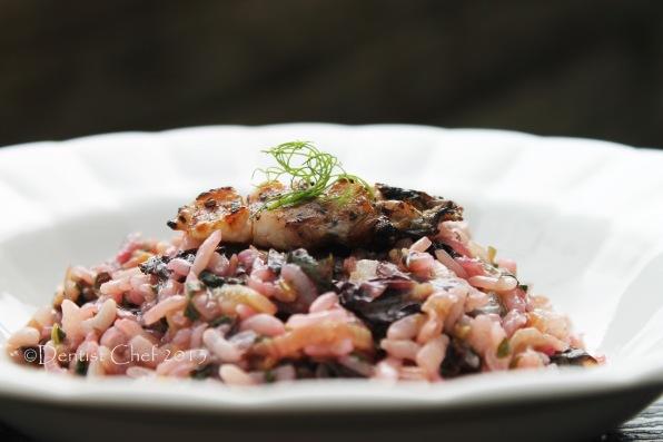 grilled mantis shrimp canocchie risotto