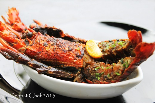 lobster roasted recipe garlic, ginger soy sauce brown butter