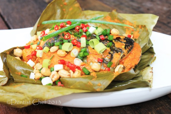 pepes ikan tempoyak palembang banana leaf wrap fish