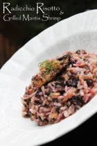 radicchio risotto cheese recipe grilled mantis shrimp