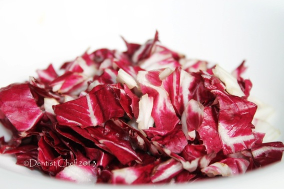 radicchio risotto chopped red endives