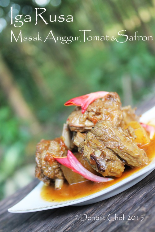 resep rusa iga deer venison braised recipe