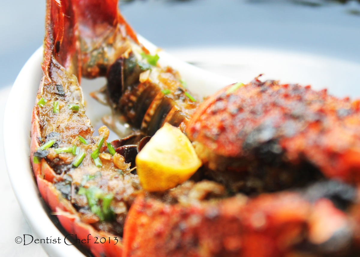 Roasted Lobster with Brown Butter, Garlic, Ginger and Soy Sauce Glaze Recipe | DENTIST CHEF