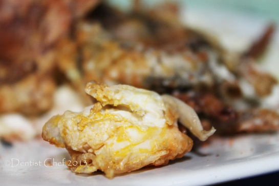 salted egg deep fried soft shell crab