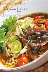 Asam laksa fish head recipe malaysian spicy noodle soup