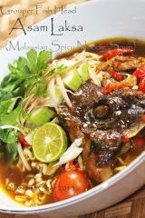 Asam laksa fish head recipe malaysian spicy noodle soup