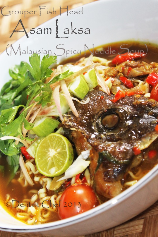 Fish Head Asam Laksa Recipe: Malaysian Spicy and Sour Noodle Soup with ...