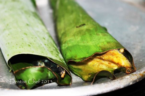 banana leaf grilled fish banana leafes wrap grill fish