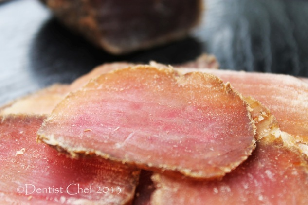 bresaola homemade sliced venison deer dry cured loin recipe
