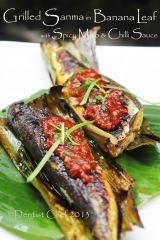 grilled sanma banana leaf recipe fish grill banan leaves