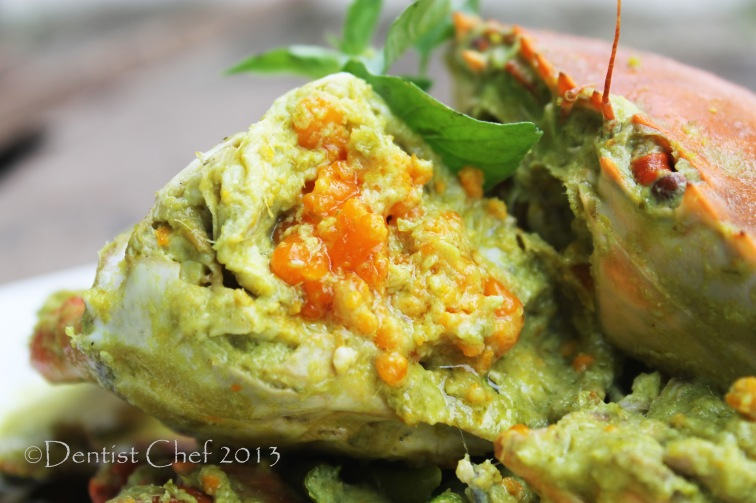 mud crab roe green curry sauce recipe thai spicy curry