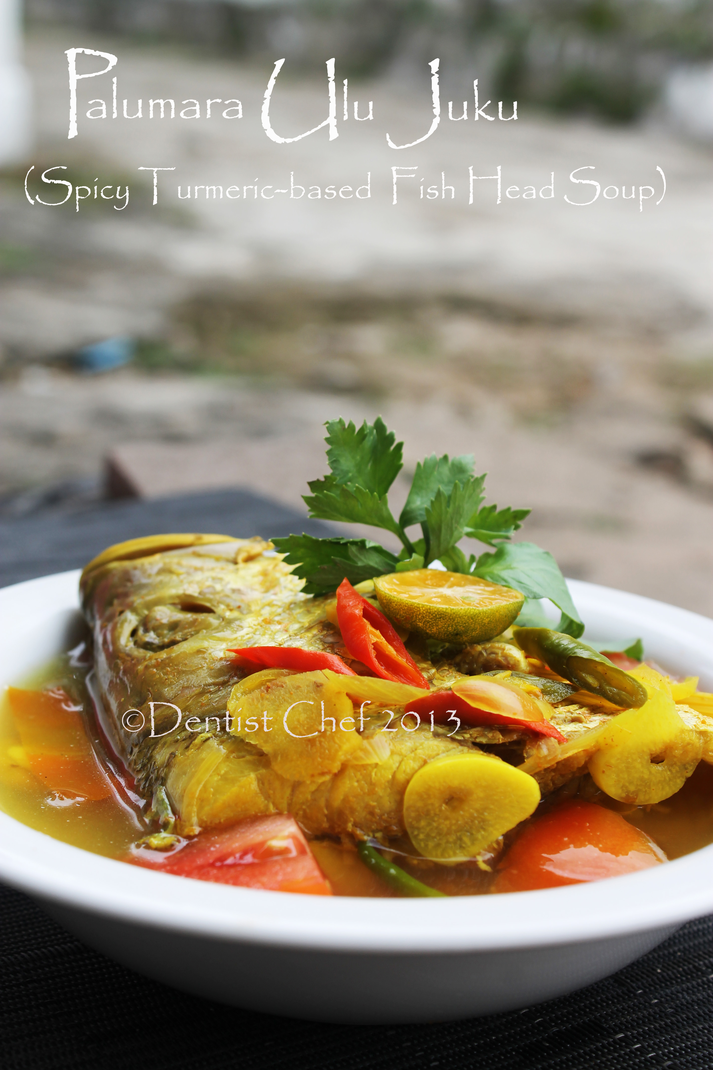 Resep palumara ulu juku spicy red snapper fish soup for Fish head soup recipe