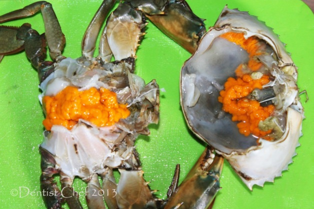 raw crab roe egg recipe female mud crab hot spicy curry