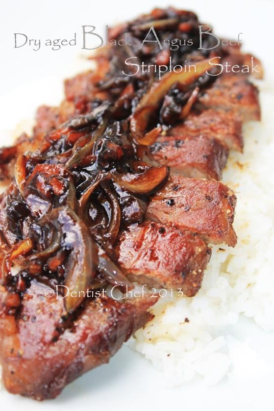 recipe dry aged striploin steak shallots jam balsamic vinegar