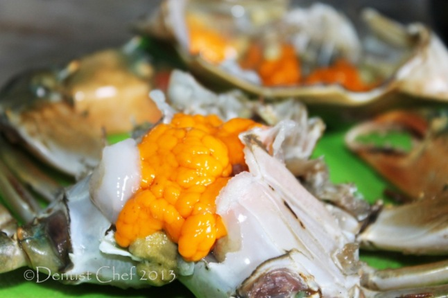 recipe mud crab egg roe spicy thai green curry sauce recipe