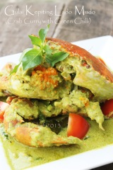 resep gulai kepiting kari saus cabe hijau ijo green chilli curry crab