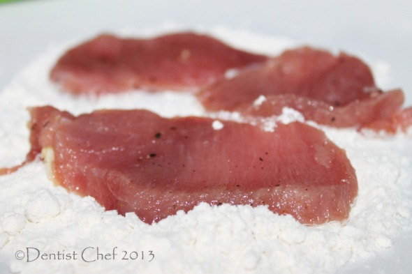 step by step recipe veal scalloppini dredge flour pounded