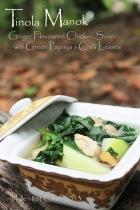 tinola chicken recipe soup philliphine ginger green papaya chili leaves