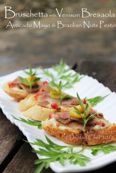 bruschetta venison avocado pesto recipe