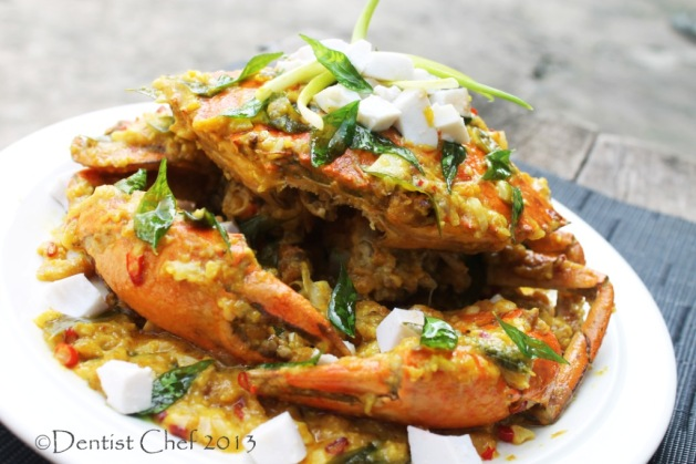 crab salted egg yolk sauce cheese sauce curry leaves