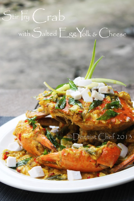 crab salted egg yolk stir fry recipe cheese sauce