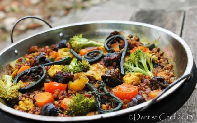 recipe paella valenciana spanish saffron rabbit chicken snail escargot