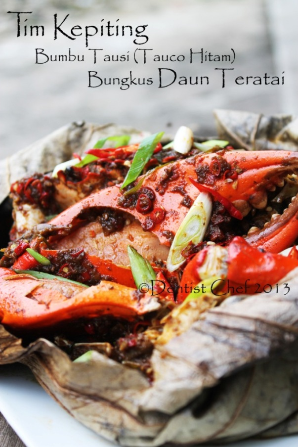resep kepiting tauco hitam tausi tim kukus steam