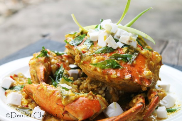 resep kepiting telur asin salted egg yolk crab