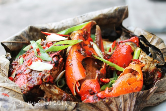steamed crab in lotus leaves wrap recipe