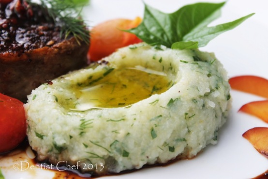 truffle mashed potato dill parsley recipe