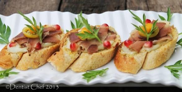 venison bresaola bruschetta avacado brazilian nuts pesto recipe