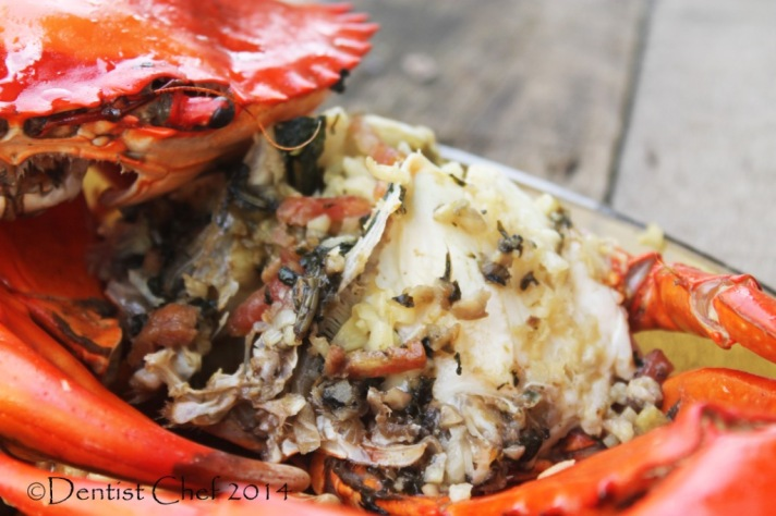 baked crab butter garlic recipe roasted crab