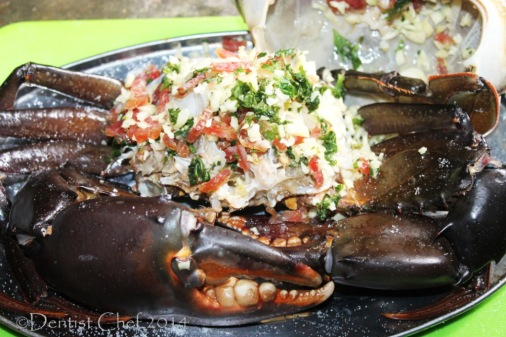 baked crab recipe roasted mud crab butter garlic bacon basil