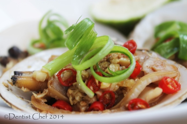 chinese style steamed clams garlic ginger chilli soy sauce recipe