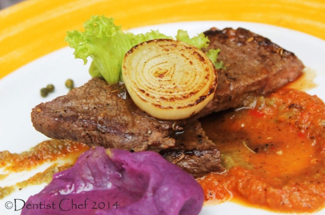 grilled wagyu beef steak recipe roasted red pepper sauce