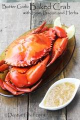 recipe baked crab butter garlic basil bacon roasted mud crab